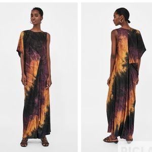 Zara tie-dye maxi dress